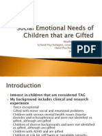social emotional needs of children that are gifted