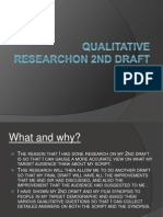Qualitative Research on 2nd Draft