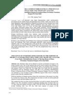 Jurnal - Pengaruh Jam Kerja Lembur Terhadap Biaya Percepatan Proyek Dengan Time Cost Trade Off Analysis