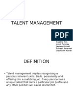 Implementation of Talent Managenent
