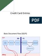 Credit Card Entries