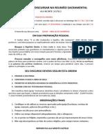 CONVITE PARA DISCURSAR NA REUNIÃO SACRAMENTAL