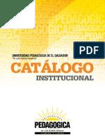 Catalogo Institucional Pedagogica 2013