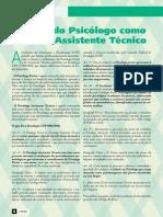 O papel do Psicólogo como Perito e Assistente Técnico