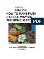 FAITH Gardening - Food Always in the Home