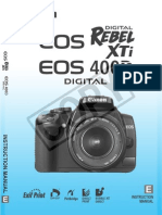 Canon Rebel XTi Manual