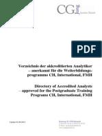 Analytikerverzeichnis 2013 September