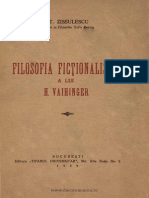 St.zissulescu,Filosofia Fictionalista a Lui H. Vaihinger,Buc.,1939.