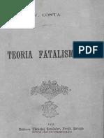 V.conta,Teoria Fatalismului,Iasi,