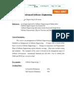 Advanced Software Engg SE540