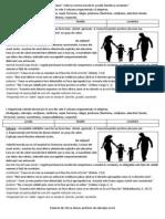 Fisa de Lucru La Tema Valori Si Norme Morale in Scoala Familie Si Societate