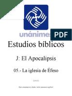 J.05.- La Iglesia de Efeso