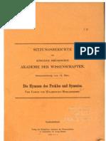 Die Hymnen Des Proklos Und Synesios - Wilamowitz-Moellendorff