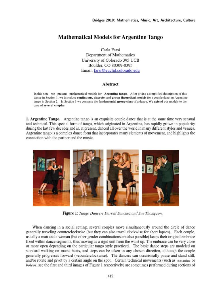 Bridges2010 415 Group Mathematics Circle Argentine Tango Steps Diagram Dance Figures
