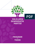 Halkların Demokratik Partisi Program Tüzüğü