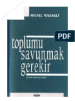 Michel Foucault-Toplumu Savunmak Gerekir