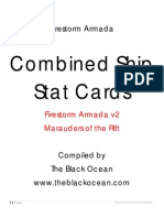 Firestorm Armada Ship Stat Cards Core v2