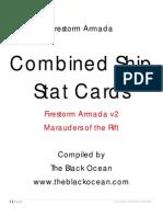 Firestorm Armada Ship Stat Cards Core v2