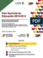 PLAN SECTORIAL DE EDUCACIÓN 2012 - 2014