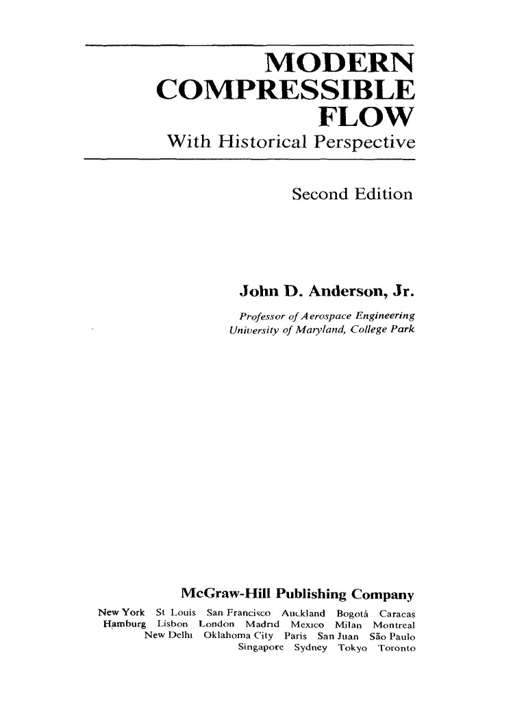 anderson j d modern compressible flow 2ed mgh 1990 rh scribd com Modern Compressible Flow Anderson PDF solutions manual to accompany modern compressible flow with historical perspective