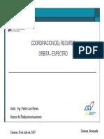 Coordinación del Recurso Orbita Espectro v.1
