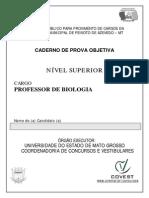 Concurso Peixoto Azevedo Cad Professor Biologia