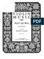 Michiels Nuit de Mai - Violin and Piano