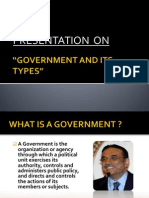 Different forms of Governments