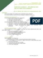 Influência dos fatores do meio nos animais - Ficha Informativa