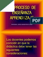 1. EL PROCESO DE ENSEÑANZA APRENDIZAJE