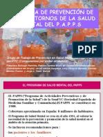 Programa de Prevencion de Trastornos de La Salud Mental Del Papps