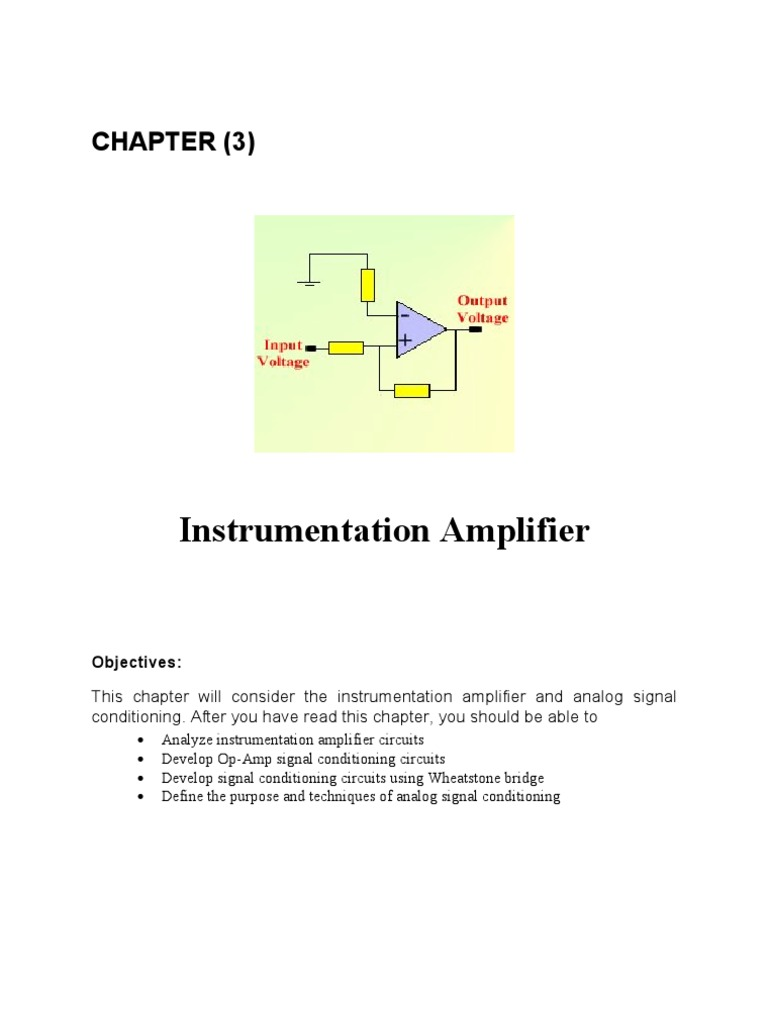 Chapter 3 Op Amp Operational Amplifier Analog Circuits