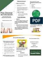 Brochure-plan Decenal 5-1 Estudiantes