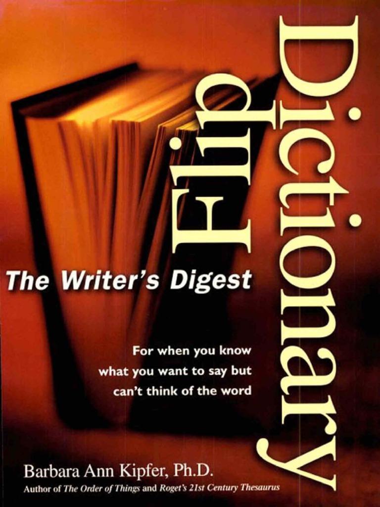 03a27537f69032 Writer s Digest Flip Dictionary-Mantesh
