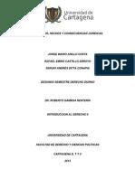 Ensayo - Supuestos, Hechos y Consecuencias Juridicas