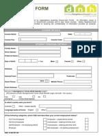 Enrolment Form