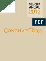 Memoria SVS Concha y Toro 2012