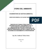Metodologías determinación caudal ecológico MINAM