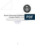 Recent Advancement of Rapid Prototyping in Aerospace Industry- A Review