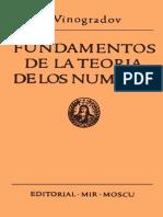 Fundamentos de La Teoria de Los Numeros