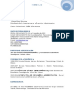 Curriculum 2014 Liliana