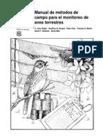 00_manual de Metodos de Campo Para El Monitoreo de Aves Terrestres