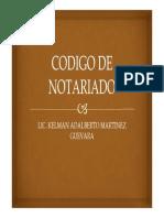 Codigo de Notariado