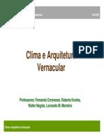 Aut258 2013 Aula 2 - Clima e Arquitetura Vernacular(1)