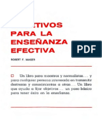 Mager, Robert F. - Objetivos Para La Ensenanza Efectiva