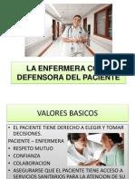 La Enfermera Como Defensora Del Paciente
