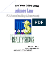Effect of Reality Shows on Youth   Statistical Hypothesis