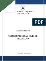 BORRADOR ANTEPROYECTO CÓDIGO PROCESAL CIVIL - TEXTO CONSULTA