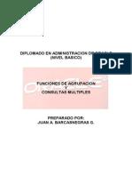 Oracle Funciones de Agrupacion y Consultas Multiples