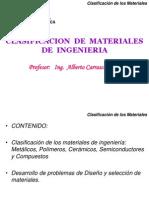 Clasificacion de Los Materiales